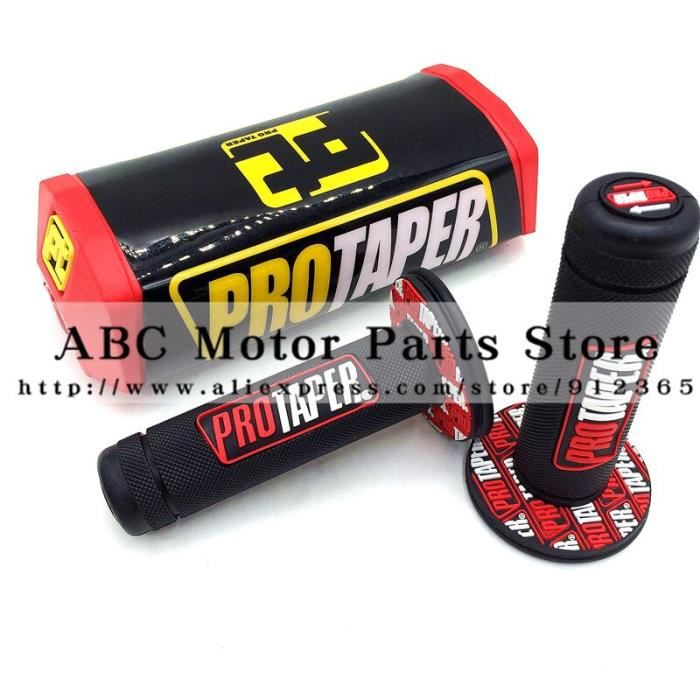 Pièces Auto,Poignée de guidon 1 1-8 - , poignées d'accélérateur, Dirt Bike, Mini Motocross, tampon de barre de poignée - Type red