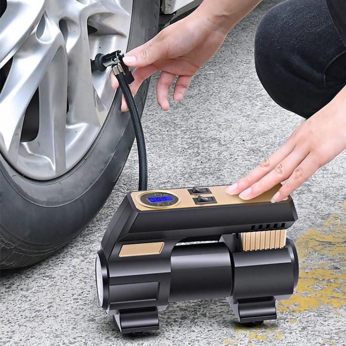 Sonew Pompe à air de voiture 12V Pompe à Air Numérique de Voiture Portable Gonfleur de Pneu Insonorisé avec Lumière 30S
