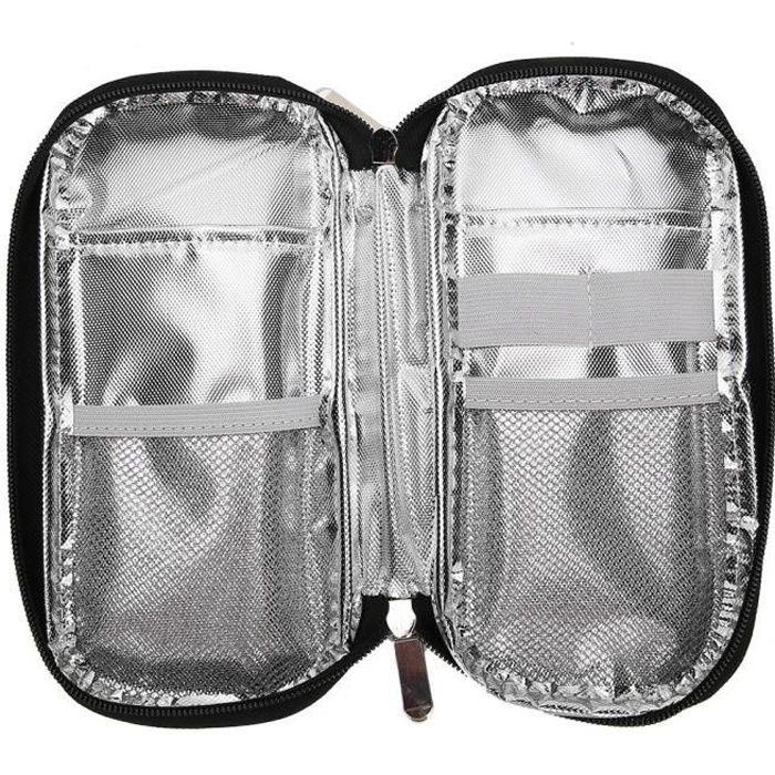 VGEBY sac réfrigéré pour médicaments Sac isotherme réfrigéré à insuline portable pour les soins des patients (fleur rouge à