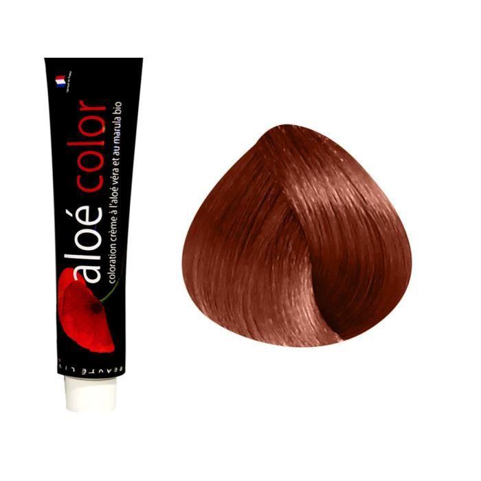Beautélive Coloration crème à l'aloé véra et au marula Rouges, 6.64 : Blond Foncé Rouge Cuivré Avec ammoniaque, 100ml
