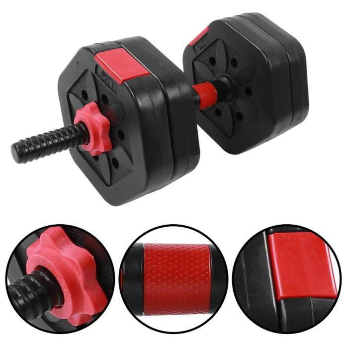 EBTOOLS ensemble d'haltères hexagonaux Ensemble d'équipement de fitness domestique Hex Eco‑Friendly 25 kg avec tige de connexion