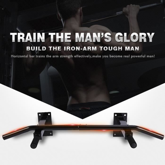 Barres de Traction Murale Barre de Fitness Fixation plafond Exercices Pull Up Bar HB035