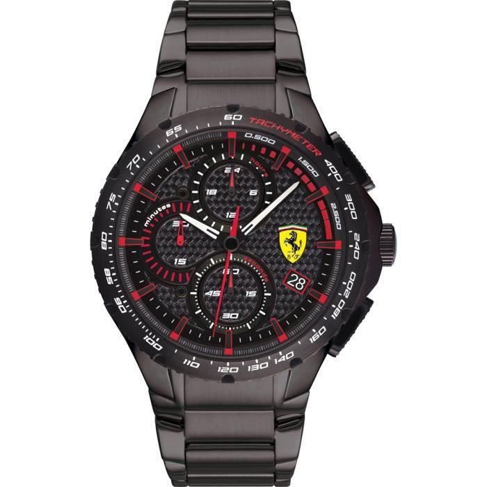 Ferrari-Montre Chronographe pour Hommes à movement Quartz en Acier inoxydable - 0830730