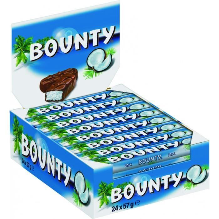 BOUNTY Pack de barres chocolatées de noix de coco - 24x 57 g