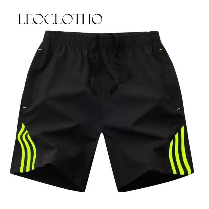 Short homme Pantalon de jogging ajusté avec bande noire effet sport
