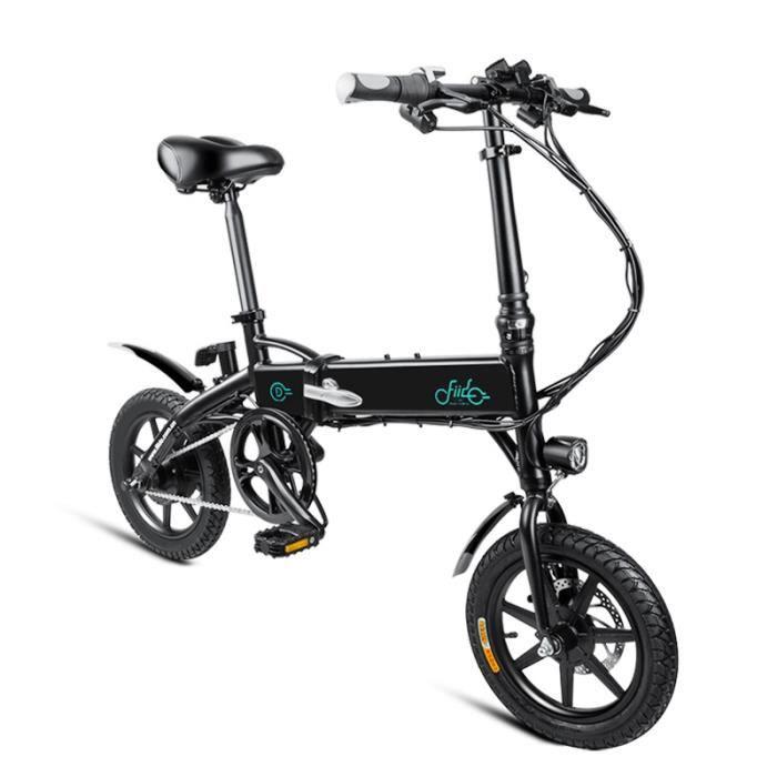 FIIDO D1 Vélo assistance électrique Pliant Batterie 10,4 Ah 250W 25 km / h Cyclomoteur E-Scooter VTT Alliage D'aluminium Intelligent