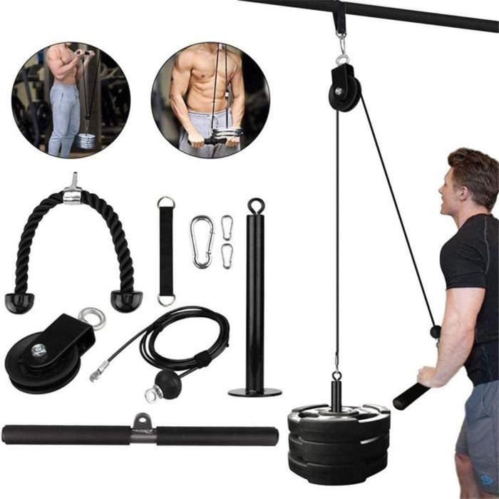 Fitness LAT Et Système De Poulie De Levage, Machine À Double Câble, Triceps Power Kits d'entraînement musculaire