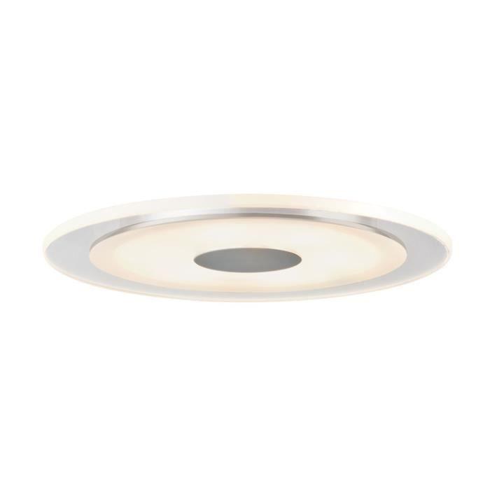 Paulmann 92535 kit d'encastrés Premium Line Whirl 6W LED Alu, Satin, kit de 1