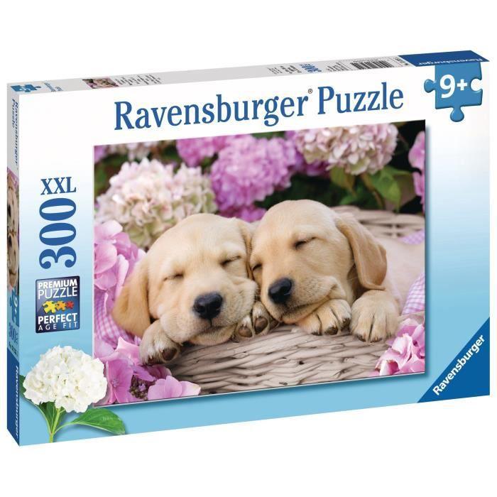 Puzzle 300 pièces XXL - Mignons chiots dans la corbeille - Ravensburger - Puzzle Enfant 300 pièces - Dès 9 ans