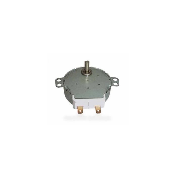Moteur entrainement plateau micro ondes pour micro ondes SAUTER 76X5609 - 2.5 W 4.2-5 RPM AXE DE 15 - BVMPièces