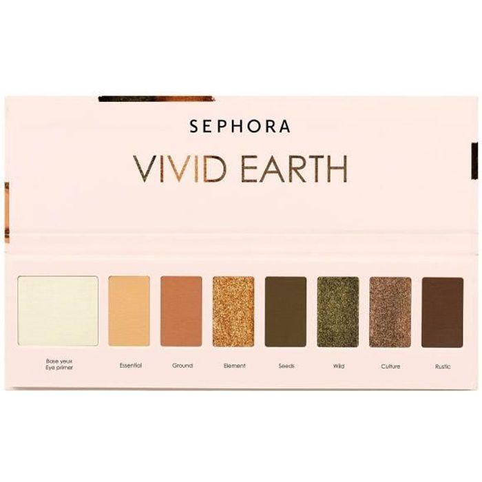 Fard à paupières Sephora Palette 7 couleurs Vivid Earth - PALETTE-19