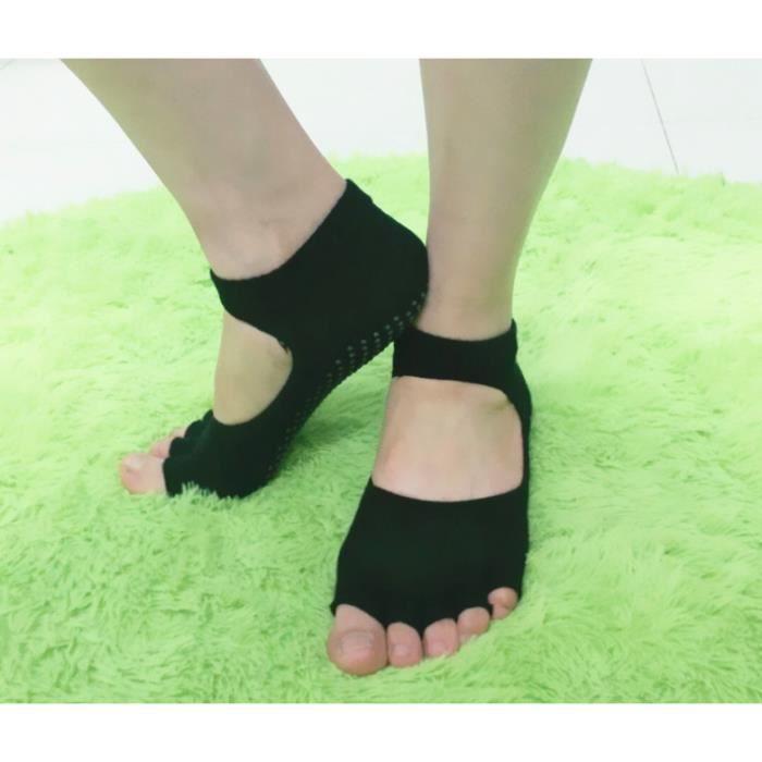 taille moyenne unisexe respirant évider sport yoga danse protection massage cheville chaussettes noir