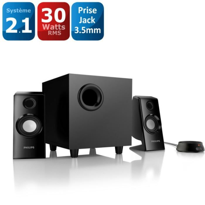 Philips enceintes multimédias 2.1 SPA4355/12