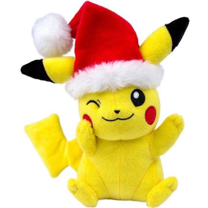 Tomy - Peluche Pokemon - Pikachu Noel 23cm