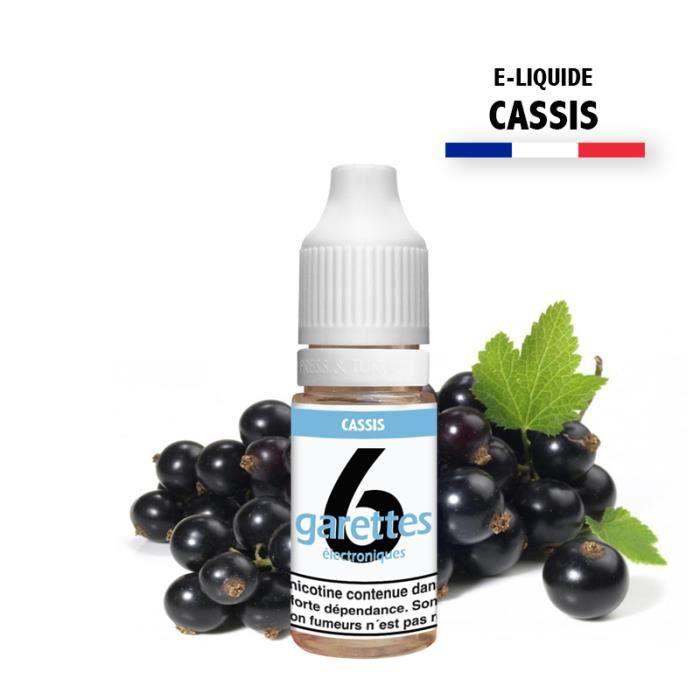 E-liquide 10ML saveur CASSIS avec 11MG de nicotine (e-liquide id : PRD1873) - (1x10ML)