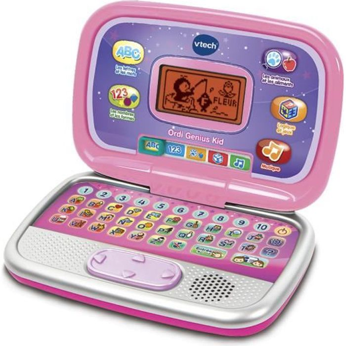 VTECH - Ordi Genius Kid Rose - Ordinateur Interactif Enfant