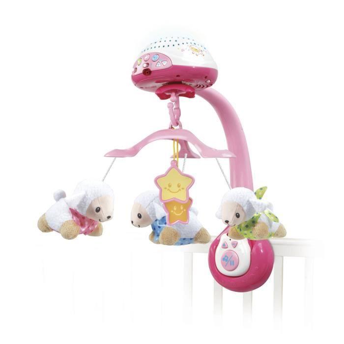 VTECH - Vtech Baby - Mobile Lumi Mobile Compte-Moutons Rose