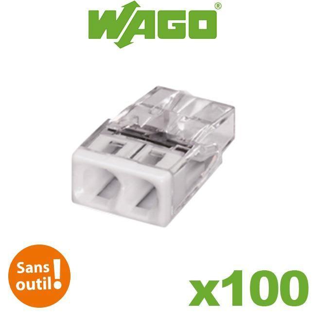 Pot de 100 mini bornes 2 fils S2273 WAGO