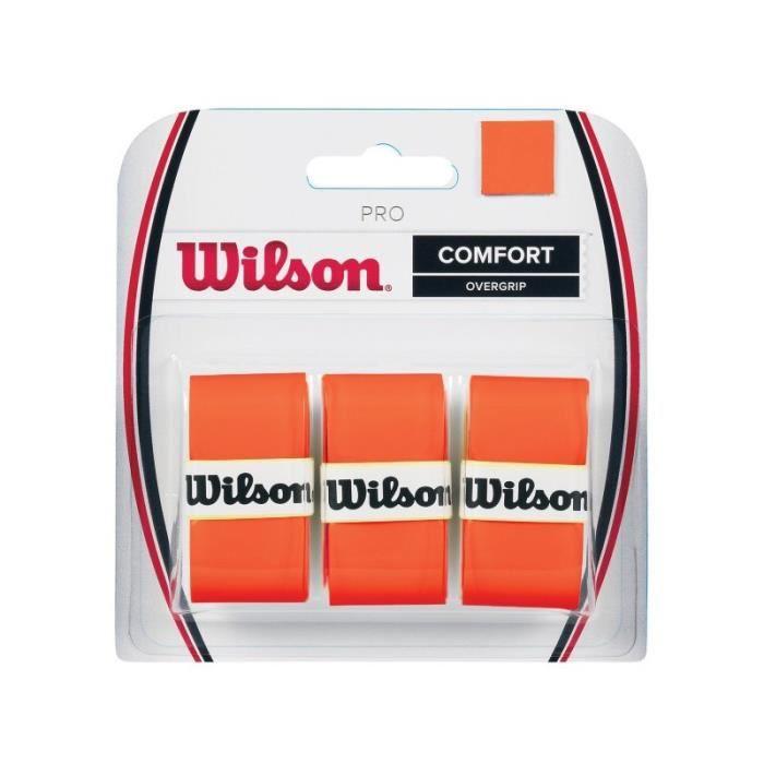 Surgrip WILSON Pro Overgrip Burn Orange Fluo x3
