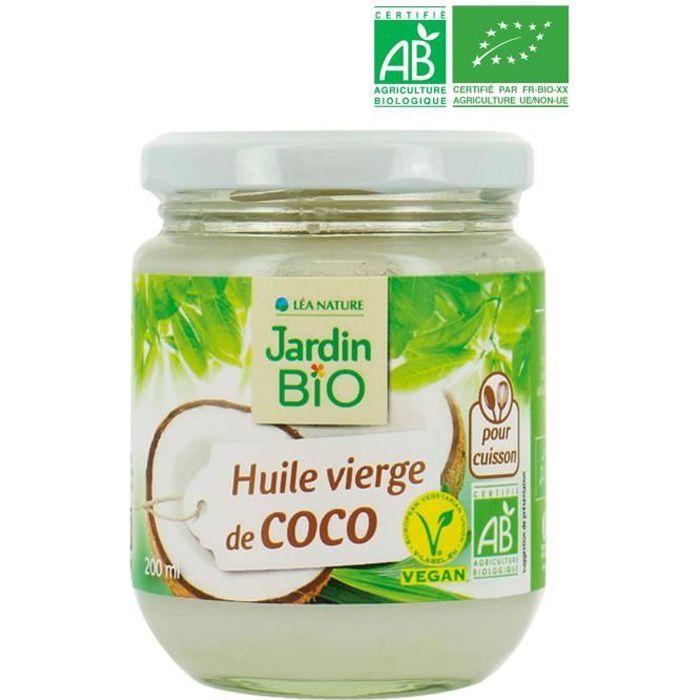 JARDIN BIO Huile vierge de Coco Bio - 200 ml