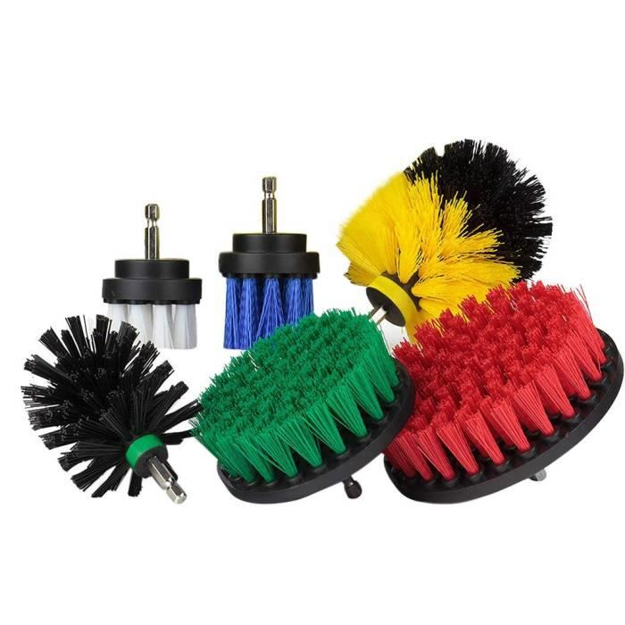 6pcs Drill Brush Attachment Set Scrubber Brush Scouring and Scrub Pads Cleaner