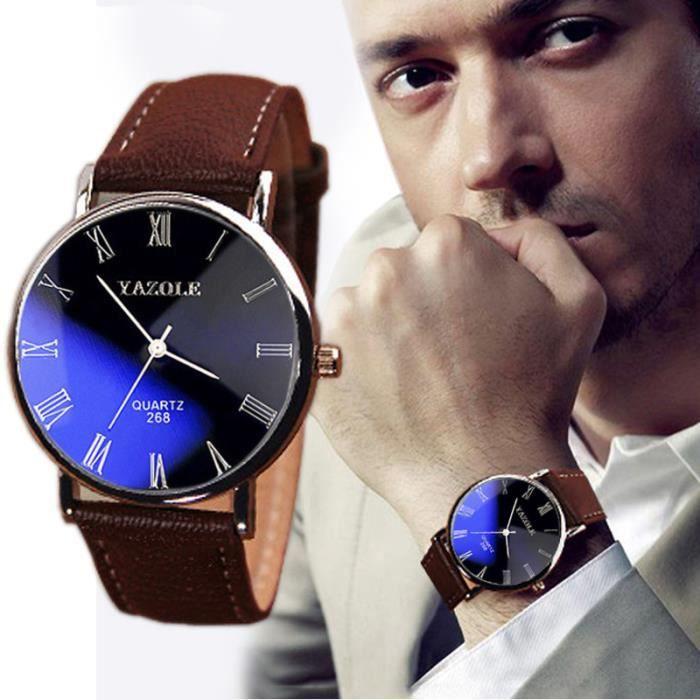 MONTRE @XYQ50421130A Mode de luxe Faux cuir Hommes Quartz