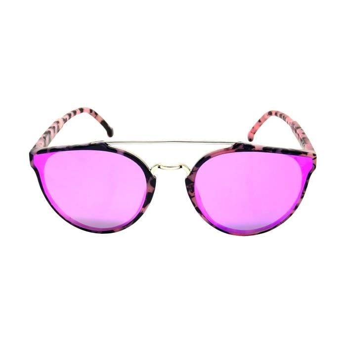 Lunettes Soleil Christian Papillon Abstract Miroir Verres Plats So Real Unisexe