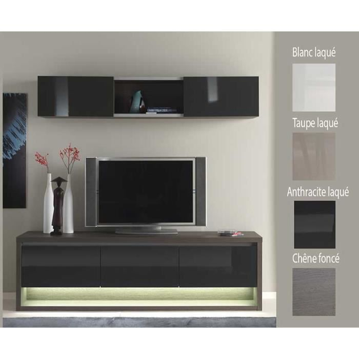meuble tv couleur ch ne fonc avec clairage led i achat vente meuble tv meuble tv couleur. Black Bedroom Furniture Sets. Home Design Ideas