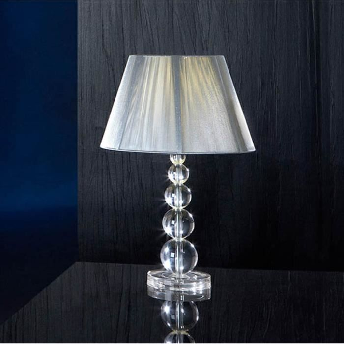 Lampe de table mod le mercury transparent achat for Lampe pied en verre