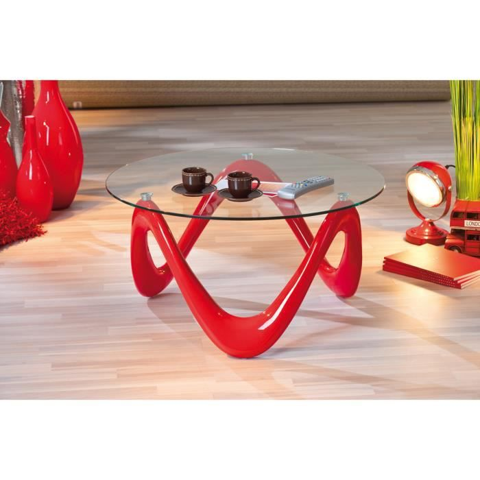 table basse rouge valentine achat vente table basse table basse rouge valentine cdiscount. Black Bedroom Furniture Sets. Home Design Ideas