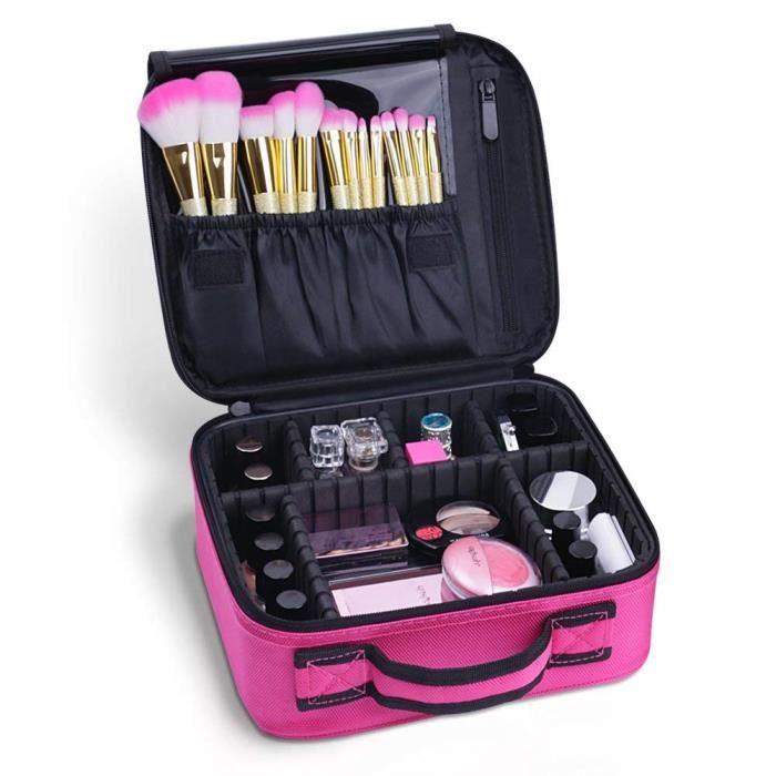 Filles Trousse De Toilette Outils De Rangement Cosm/étique Train Case Portable Voyage Maquillage Sac Angleterre Drapeau Symbole