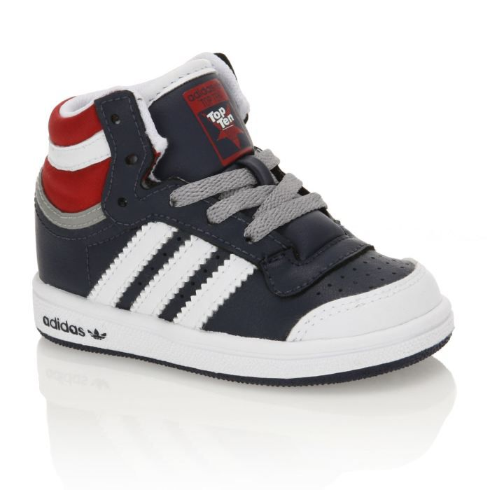 Baskets Top Rouge Achat Adidas Bébé MarineBlancGris Hi Et Ten ZukXiOP