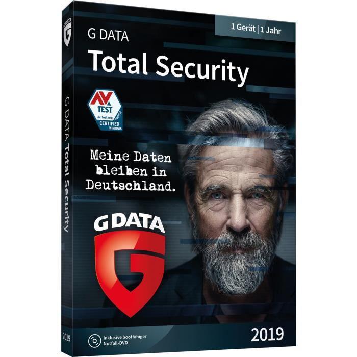 SYSTÈME D'EXPLOITATION G DATA Logiciel GDATA TOTAL SECURITY 2019 - 1 PC 1