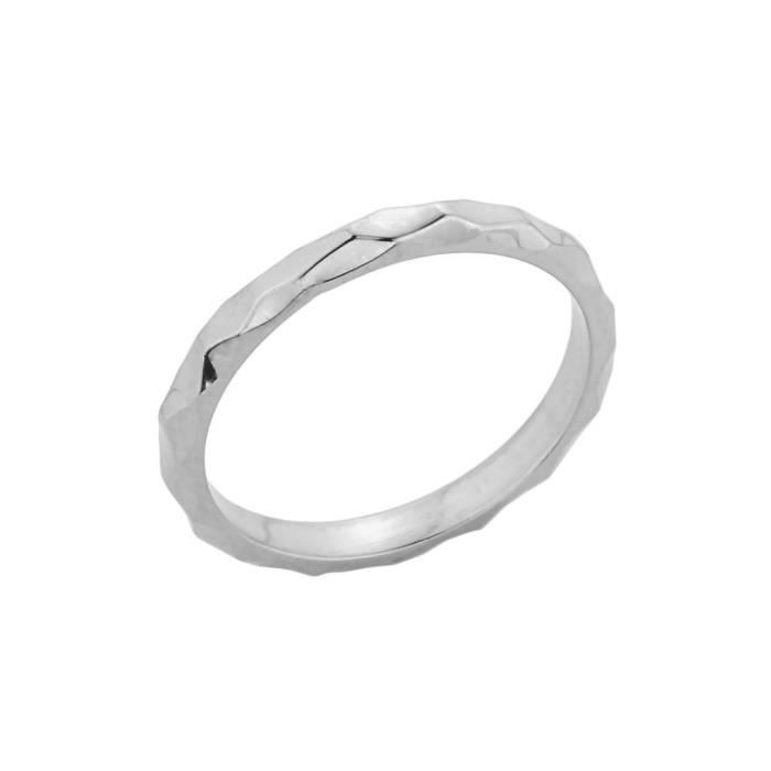 Bague Femme 10 ct Or Blanc 471/1000Empilable