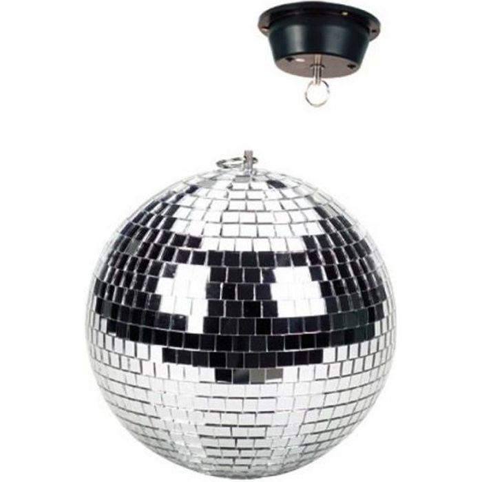 boule disco facettes 30 cm avec moteur boule a. Black Bedroom Furniture Sets. Home Design Ideas