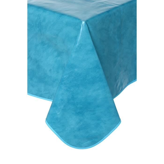 nappe toile cir e bleu turquoise po le cuisine inox. Black Bedroom Furniture Sets. Home Design Ideas