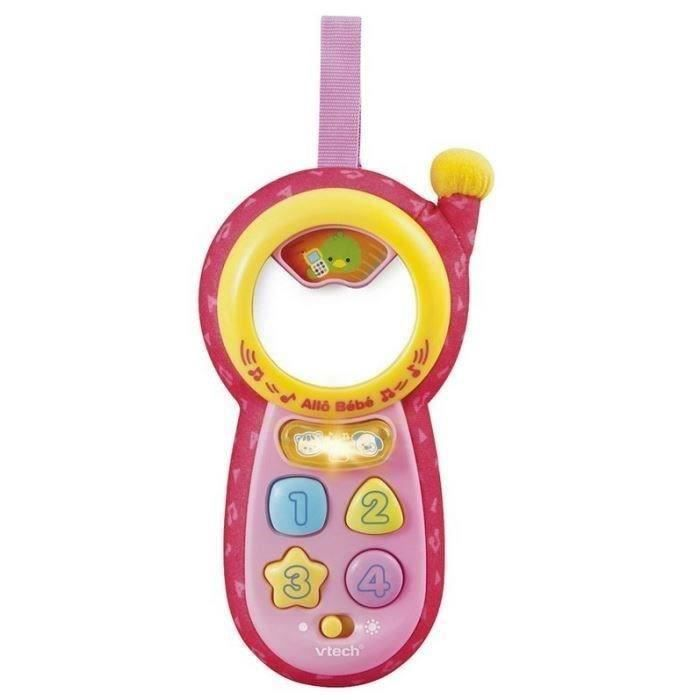 vtech baby t l phone all b b rose achat vente telephone jouet cdiscount. Black Bedroom Furniture Sets. Home Design Ideas