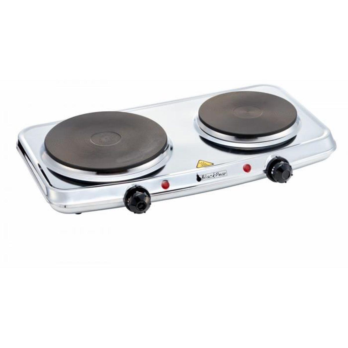 Plaque Vitrocéramique Un Feu plaque de cuisson 2 feux black pear bhpi 206