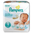 COUCHE PAMPERS NewBaby Sensitive Taille 1, 2 à 5kg 23 cou