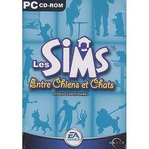 JEU PC LES SIMS ENTRE CHIENS ET CHATS / PC cd-rom (disque