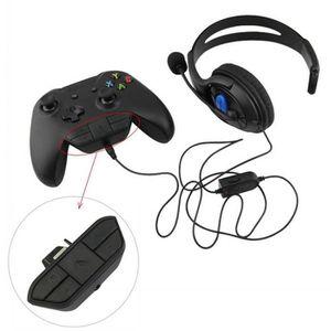 ADAPTATEUR MANETTE Adaptateur de jeu audio casque stéréo casque pour