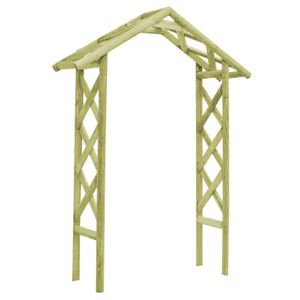 ARCHE Arche pour jardin Voûte à rosiers 135x45x232 cm Pi