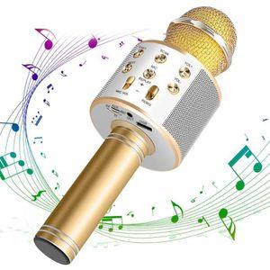 MICROPHONE - ACCESSOIRE Micro Pour Chanter Bluetooth Sans Fil USB Professi