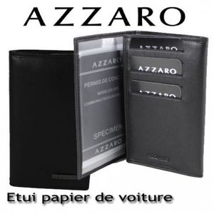 azzaro etui papier de voiture ligne loris achat vente porte papiers 2009927456356. Black Bedroom Furniture Sets. Home Design Ideas