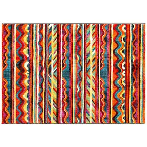 Tapis Salon Bonita Art Abstrait Multicolore 120x170cm Debonsol