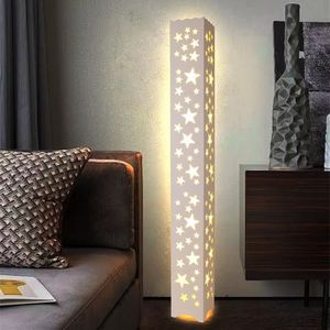 LAMPADAIRE LED Moderne Lampadaire bois Blanc Chaud PVC Bois P