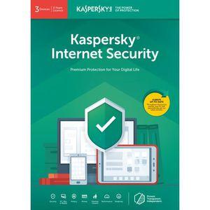 ANTIVIRUS KASPERSKY Internet Security 2019, 3 Postes, 2 Ans