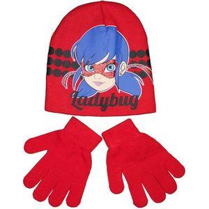 BONNET - CAGOULE Ensemble MIRACULOUS LADYBUG bonnet gants enfant ro