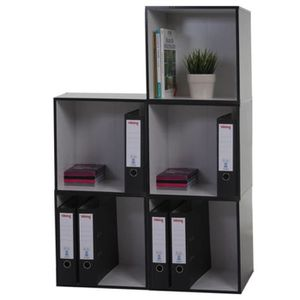 etagere cube noire achat vente etagere cube noire pas. Black Bedroom Furniture Sets. Home Design Ideas