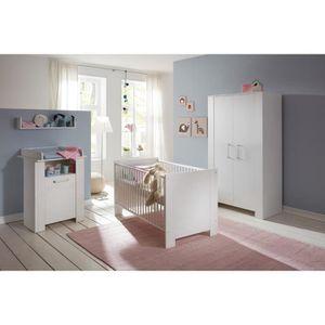CHAMBRE COMPLÈTE BÉBÉ MIRI Chambre bébé complète : Lit 70*140 cm + Armoi